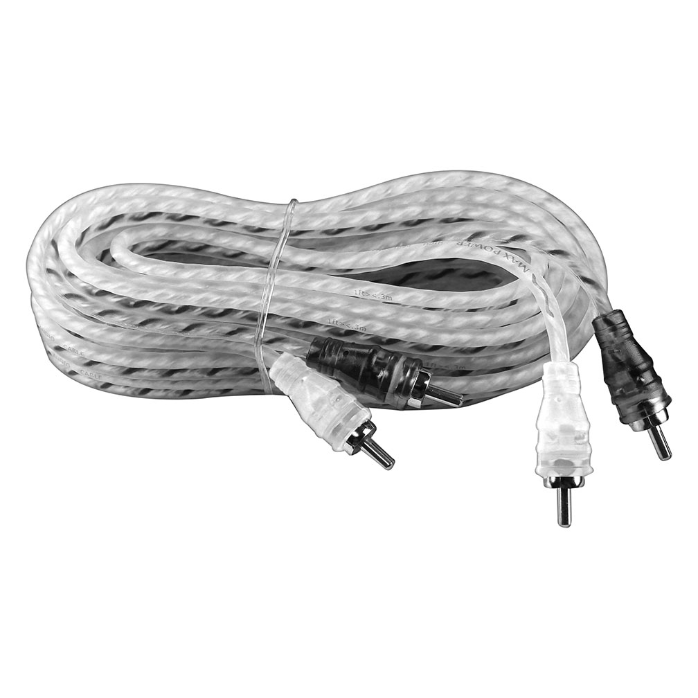 Maxpower MPRCA20SB Max Power Entry Rca Cable 20ft Silver/black