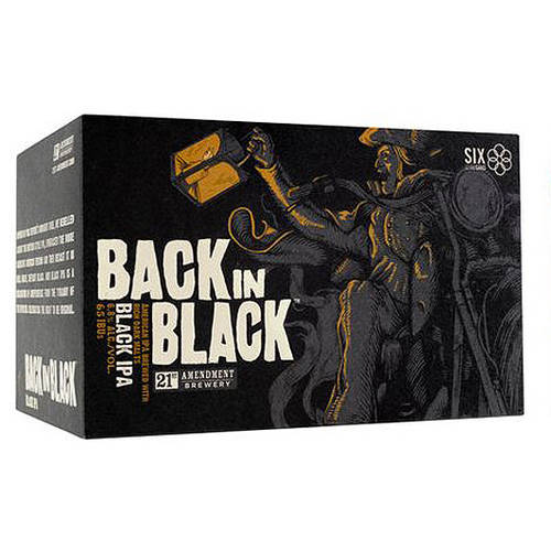 Image of 21st Amendment Back In Black IPA, 6 pack, 12 fl oz