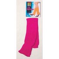 NEON LEG WARMERS-PINK
