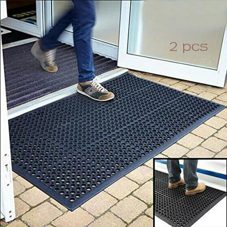 Zimtown 2pcs rubber entrance doormat floor mat 60 x 35 entrance zimtown 2pcs rubber entrance doormat floor mat 60 x 35 entrance rug indoor planetlyrics Images
