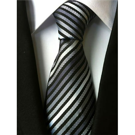 Lavaport Mens Wedding Formal Office Striped (Mens Striped Woven Tie)