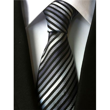 Lavaport Mens Wedding Formal Office Striped Necktie