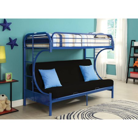 Eclipse Twin Xl Queen Futon Bunk Bed Blue Walmart Com