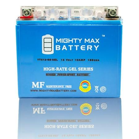 YTX12-BS 12V 10AH GEL Battery Replaces Suzuki Gsxr1000 2001-2004