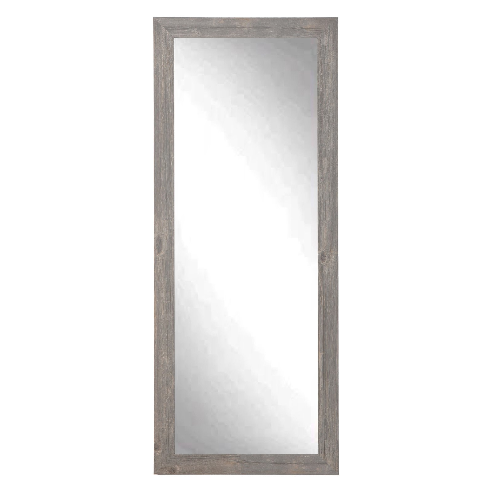 BrandtWorks Urban Frontier Barnwood Leaning Floor Mirror by American Made