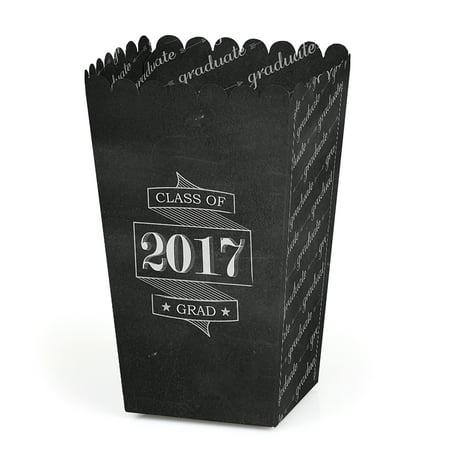 Graduation Cheers - Graduation Party Popcorn Favor Boxes - Set of 12 - Graduation Party Items