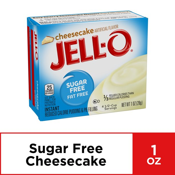 (4 Pack) Jell-O Instant Sugar-Free Cheesecake Pudding & Pie Filling, 1 oz Box