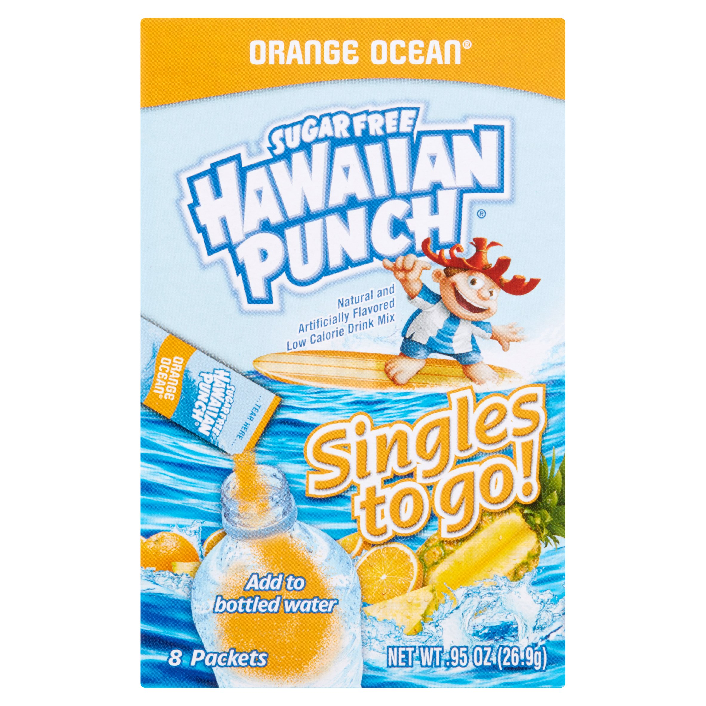 Hawaiian Punch Singles To-Go Drink Mix, Orange, .92 Oz, 8 Packets, 1 Count