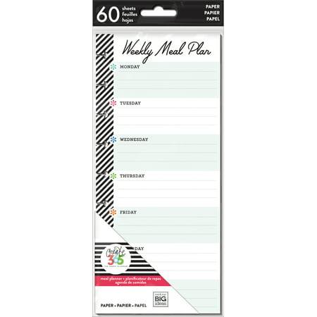 Happy Planner Medium Half Sheet Fill Paper 60/Pkg-Meal