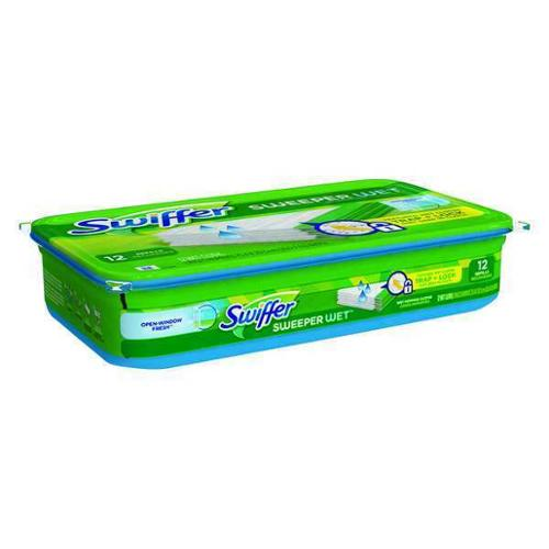 "10"" Swiffer Wet Cloths, Swiffer, 35154"