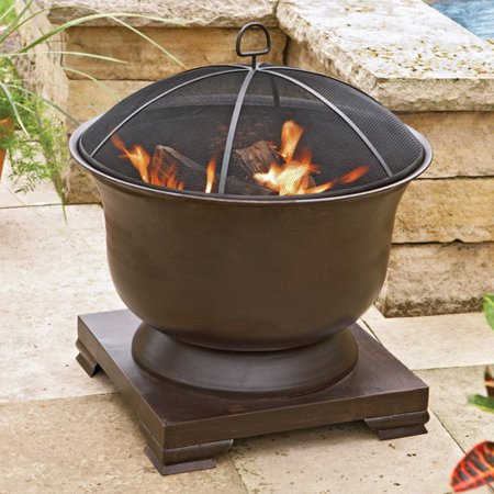 Better Homes and Gardens Oil-Rubbed Brass Urn Fire Pit