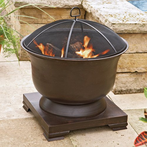 Better Homes And Gardens Oil Rubbed Brass Urn Fire Pit Walmart Com