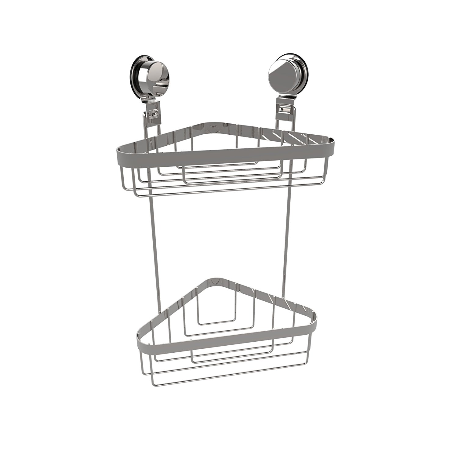 Wall Mounted Two Tier Corner Caddy-Shower Storage Rack fo...