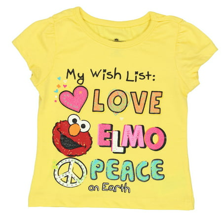 Sesame Street Elmo Girls Short Sleeve Tee 6SE5795 - Is Elmo A Boy Or A Girl