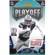 2020 Panini Playoff NFL Football Trading Cards Hanger Box - 60 Cards | Exclusive Base Goal Line and Purple insert parallels!