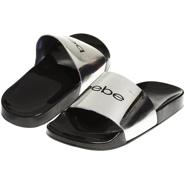 bebe Soft Slip-On Jelly Slide Slippers
