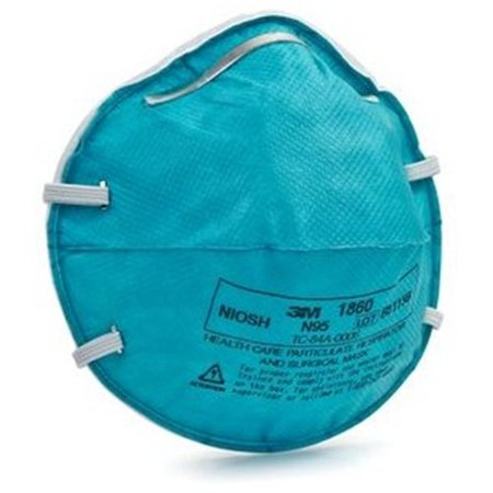 3M 1860S N95 Health Care Particulate Cup Respirator And Surgical Mask  Small  Astm F1862  Blue  6 Boxes Of 20