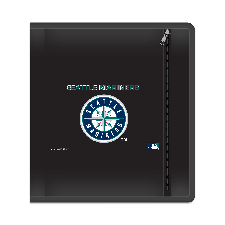 "MLB Seattle Mariners Zippered 3 Ring Binder, 250 Sheet Capacity, 1.625"" Metal Rings"