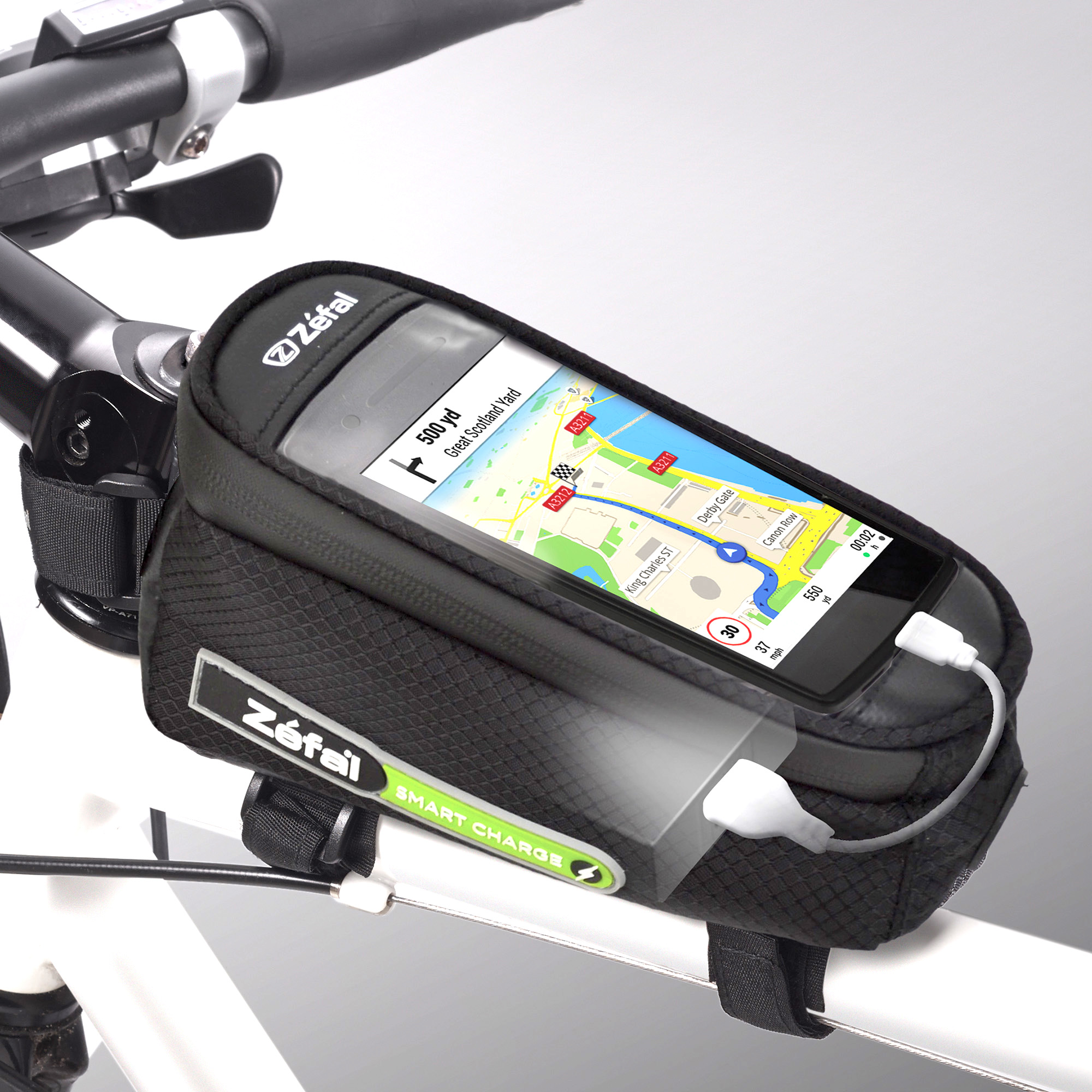 Zefal Smart Phone Charge Bike Bag - Battery Included (Rechargeable - Store, Use, and Charge)