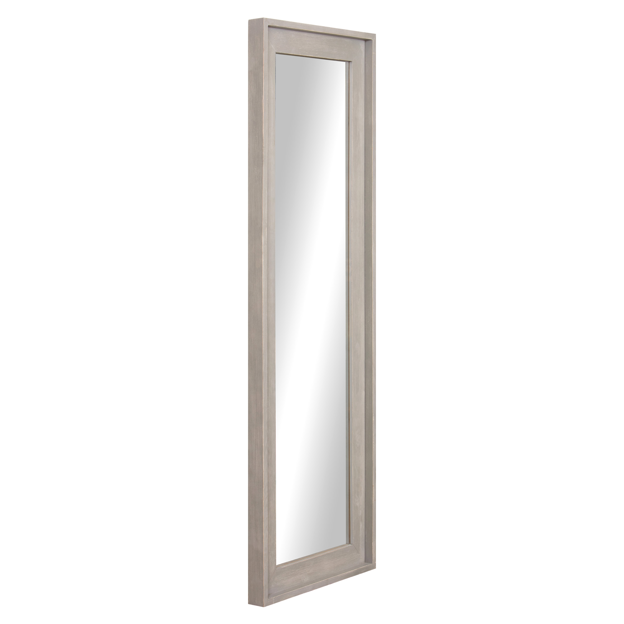 Light Grey Wood Framed Full Length Wall Or Leaner Mirror 19 X57 By Patton Wall Decor Walmart Com Walmart Com