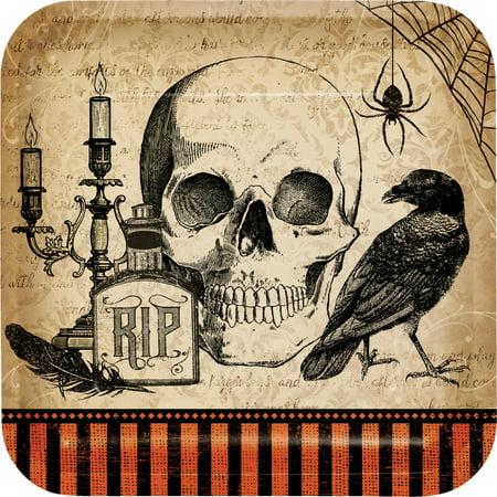 Spooky Symbols Halloween Paper Plates, 8 pack