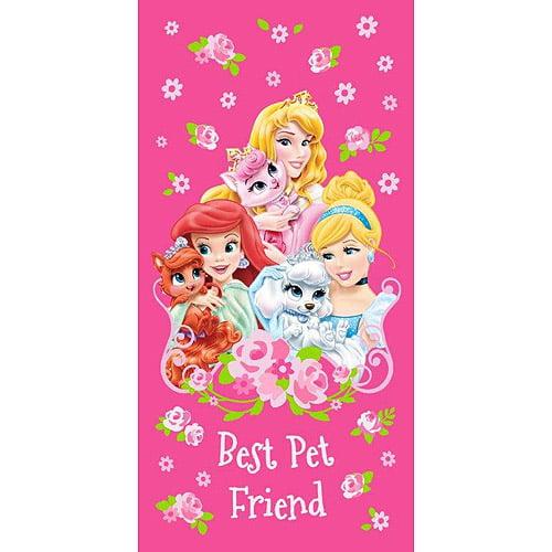 Disney Princess Palace Pets Beach Towel, Pink