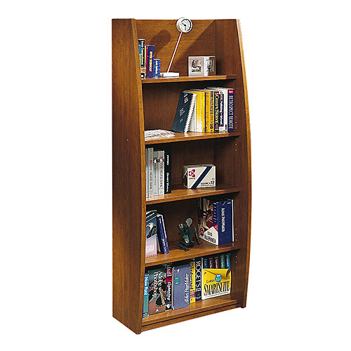 Sauder Library Bookcase Fruitwood Walmart Com