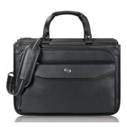 Solo USLCLS3464 US Luggage Triple Gusset Laptop Briefcase, Black