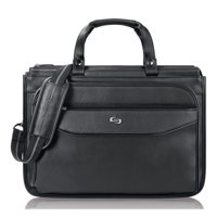 Solo USLCLS3464 US Luggage Triple Gusset Laptop Briefcase, Black