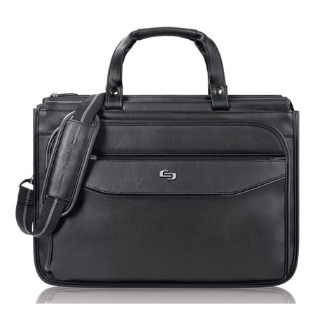 USLCLS3464, US Luggage Triple Gusset Laptop Briefcase, 1, Black