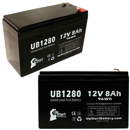 2x Pack - APC BACK-UPS 800 RS800 Battery Replacement - UB1280 Universal Sealed Lead Acid Battery (12V, 8Ah, 8000mAh, F1 Terminal, AGM, SLA) - Includes 4 F1 to F2 Terminal Adapters - image 4 de 4