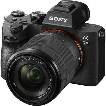 Sony Alpha A7 III 4K Digital Camera + 28-70mm FE OSS Lens (Sony Camera Nex 6)