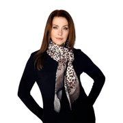 Casaba Womens Animal Leopard Skin Prints Sheer Scarves Scarf Shawls Light Wrap