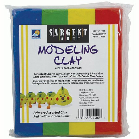 Sargent Art Non-Hardening Modeling Clay Primary 4-Pack ()