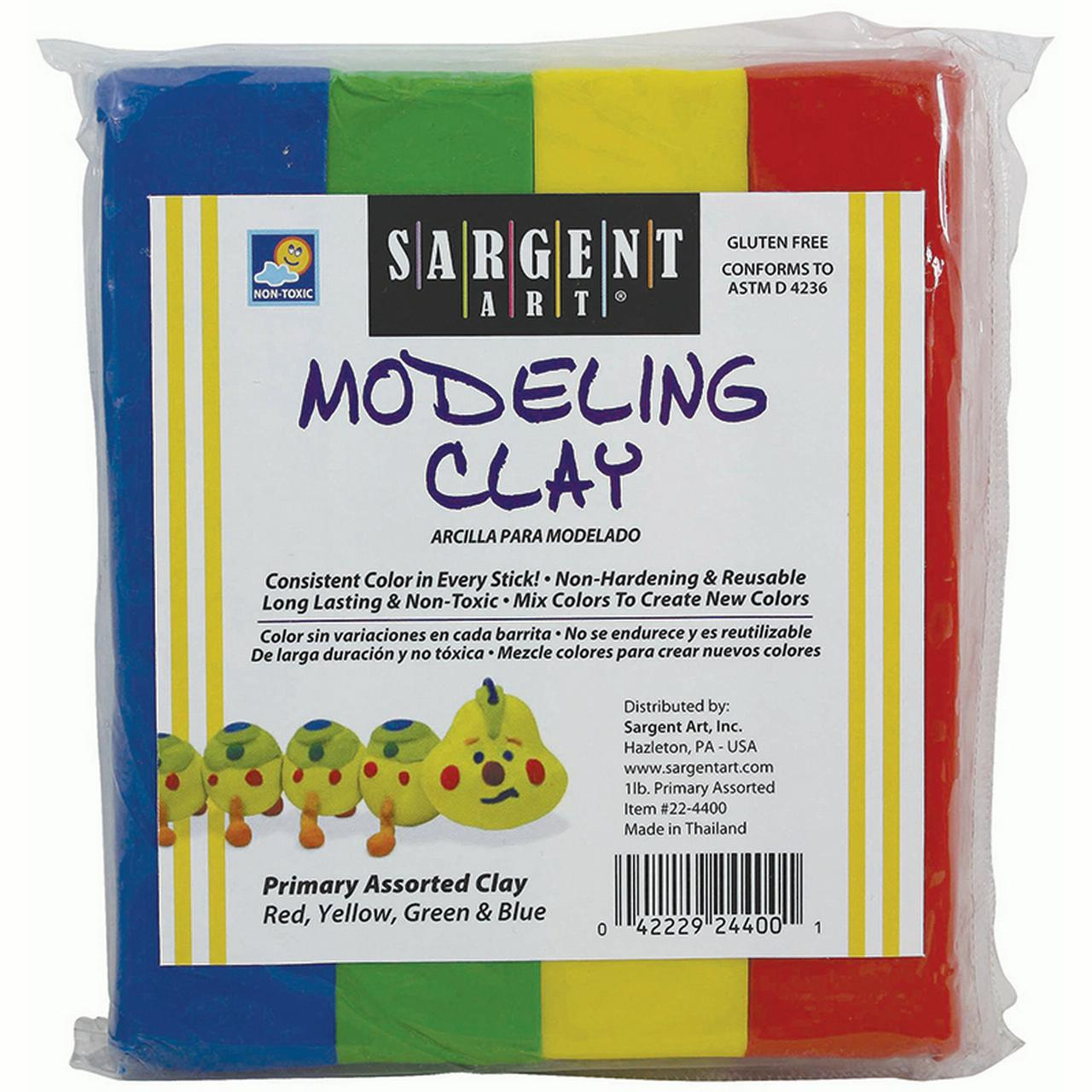 Sargent Art Non-Hardening Modeling Clay Primary 4-Pack