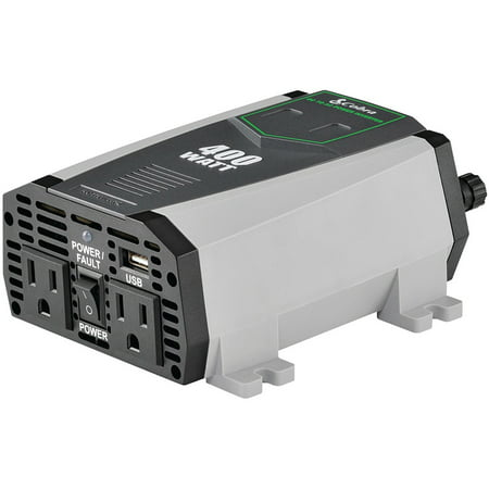 Cobra CPI490 2.1A USB 12V DC to 120V AC Power Inverter Cobra 400w Power Inverter