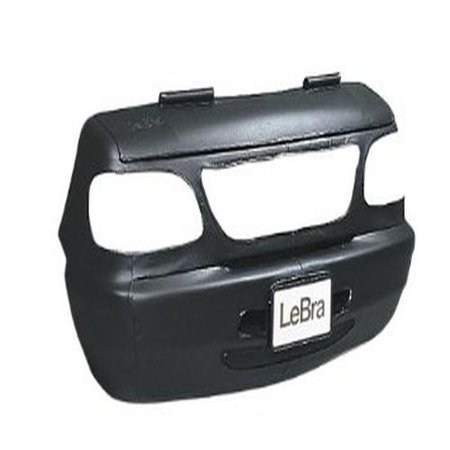 Covercraft Lebra Custom Fit Front End Cover For Jeep Wrangler    Vinyl  Black