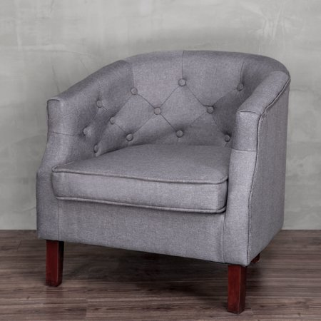 - Cloud Mountain Accent Chair Modern Upholstered Leisure Indoor Chair Contemporary Polyester Fabric Club Chair Single Sofa Comfortable Stylish Living Room Bedroom Home with Durable Wood Frame (Gray)