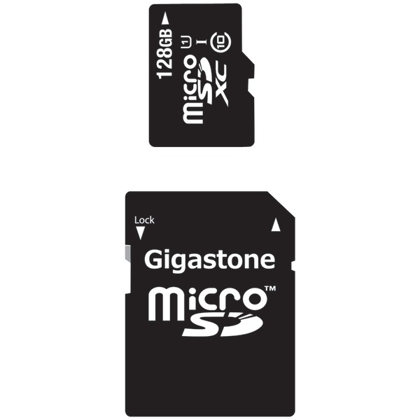 Gigastone GS-2IN1X10128G-R Class 10 UHS-1 microSDHC and SD Adapter with up to 48Mbps Transfer Rates, 128GB