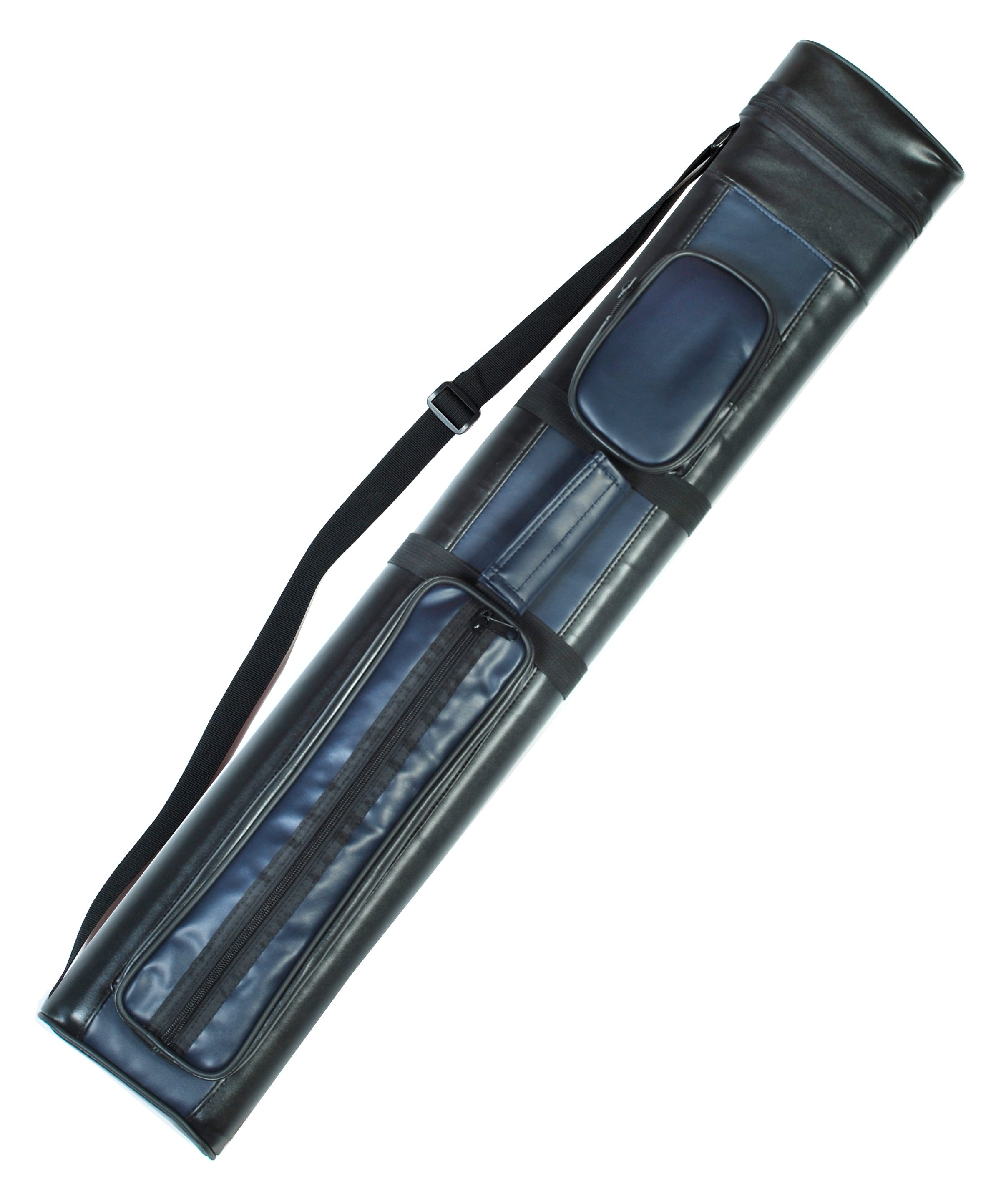2X2 Hard Billiard Stick Pool Cue Case 2 x 2 Blue Black by