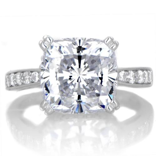Sterling Silver Cubic Zirconia 5ct TGW Engagement Ring 10