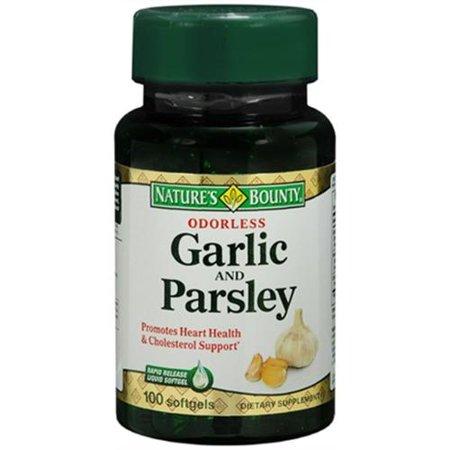 Nature's Bounty L'ail et le persil Inodore gélules 100 gélules