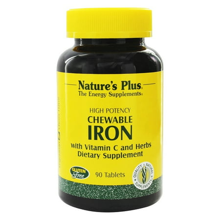 Nature's Plus - Chewable Iron with Vitamin C and Herbs - 90 Chewable