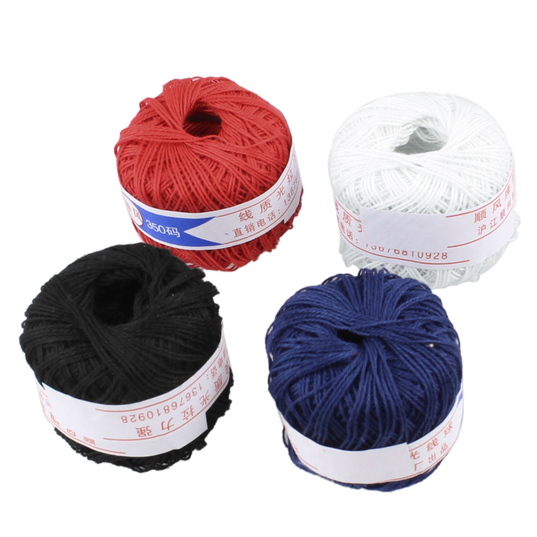 Assorted Color Cotton Thread Ball Travel Embroidery Sewing Kit 4 Pcs