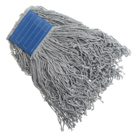 HUBERT Mop Head For Concrete Floors 27 Ounce Grey Poly Cotton Blend Cut End - 5