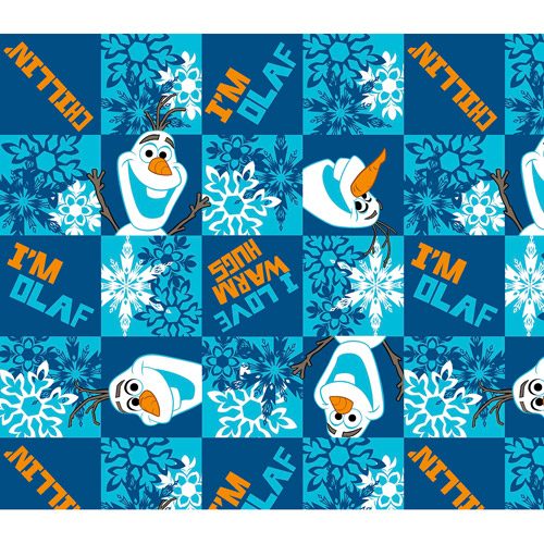 "Disney Frozen Olaf Chillin' Flannel Fabric, 42/43"" Wide, Sold by the Yard"