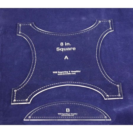 """Robbing Peter to Pay Paul- 2 pc Quilting Template Set-Acrylic 1/8"""""""