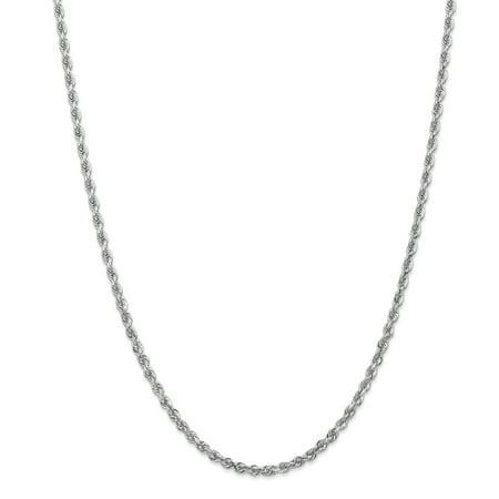 10K White Gold 3.35mm Diamond Cut Quadruple Rope Chain 24 Inch - image 5 de 5