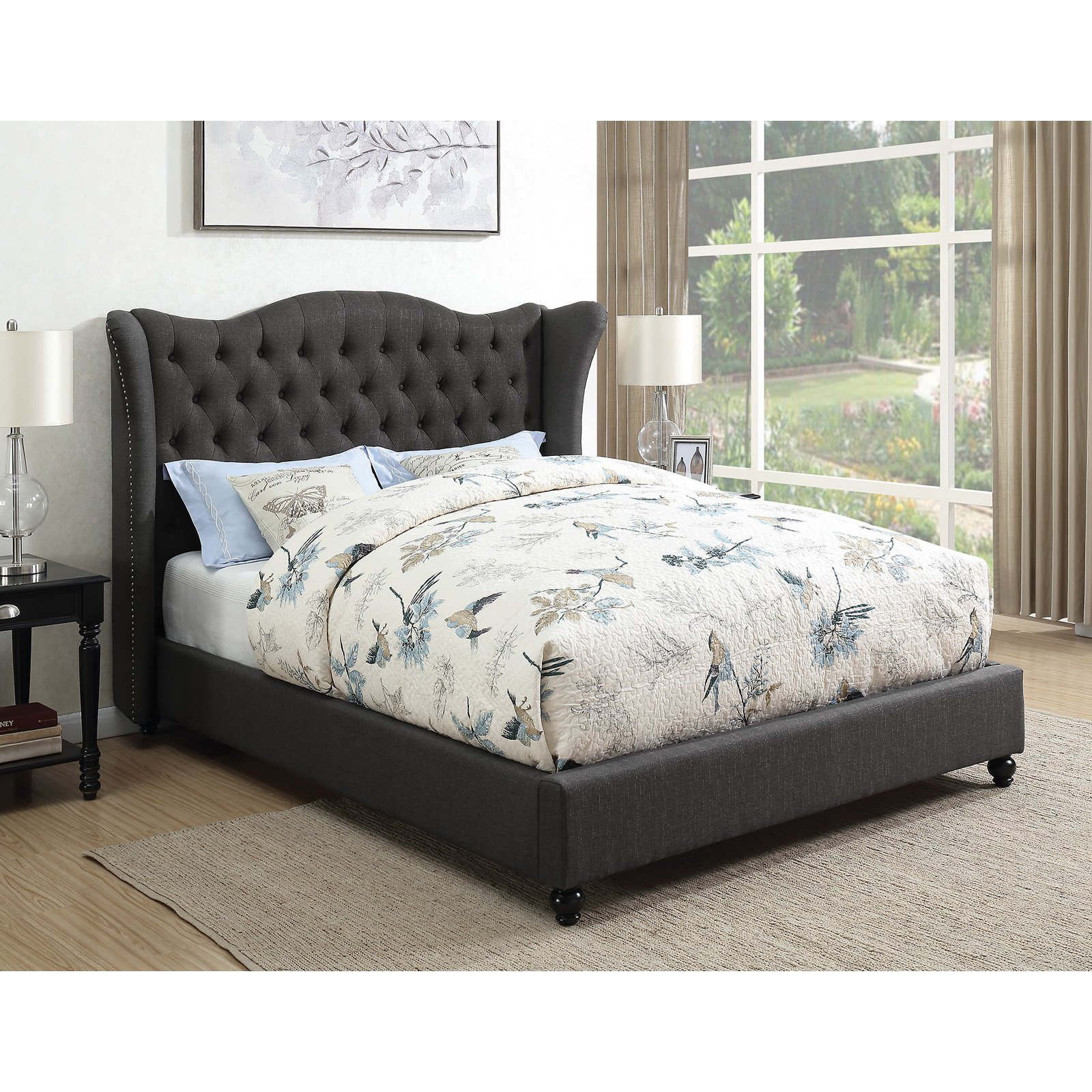 Coaster Furniture Newburgh Upholstered Wingback Panel Bed