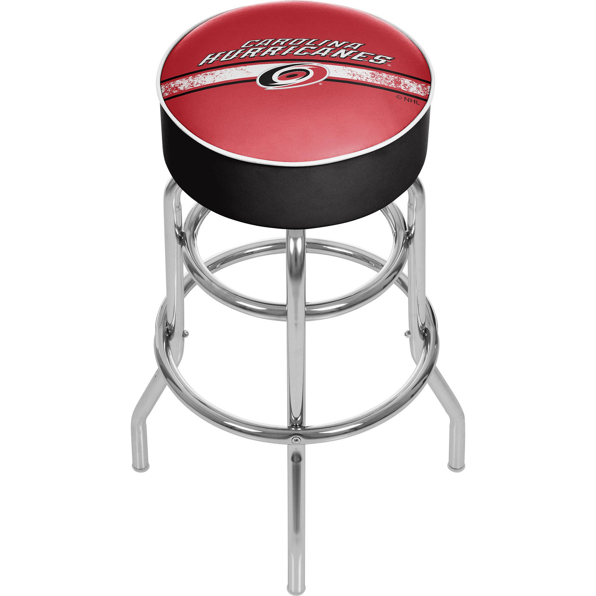 NHL Chrome Bar Stool with Swivel, Carolina Hurricanes